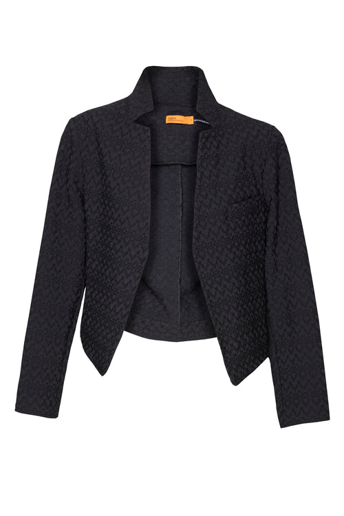 Black High Collar Classic Jacket 4222