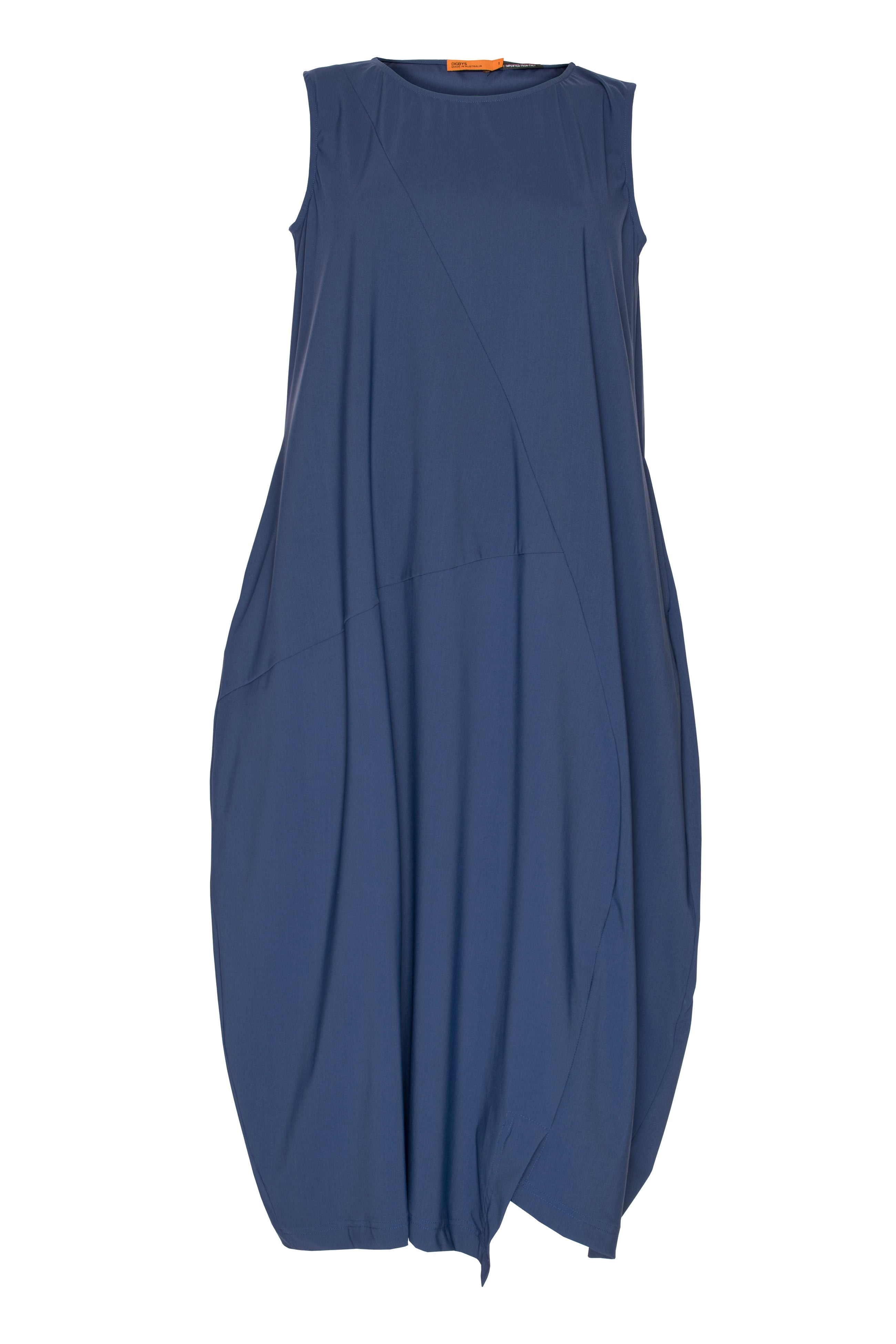 Indigo Asymmetric Panel Singlet Dress 5265