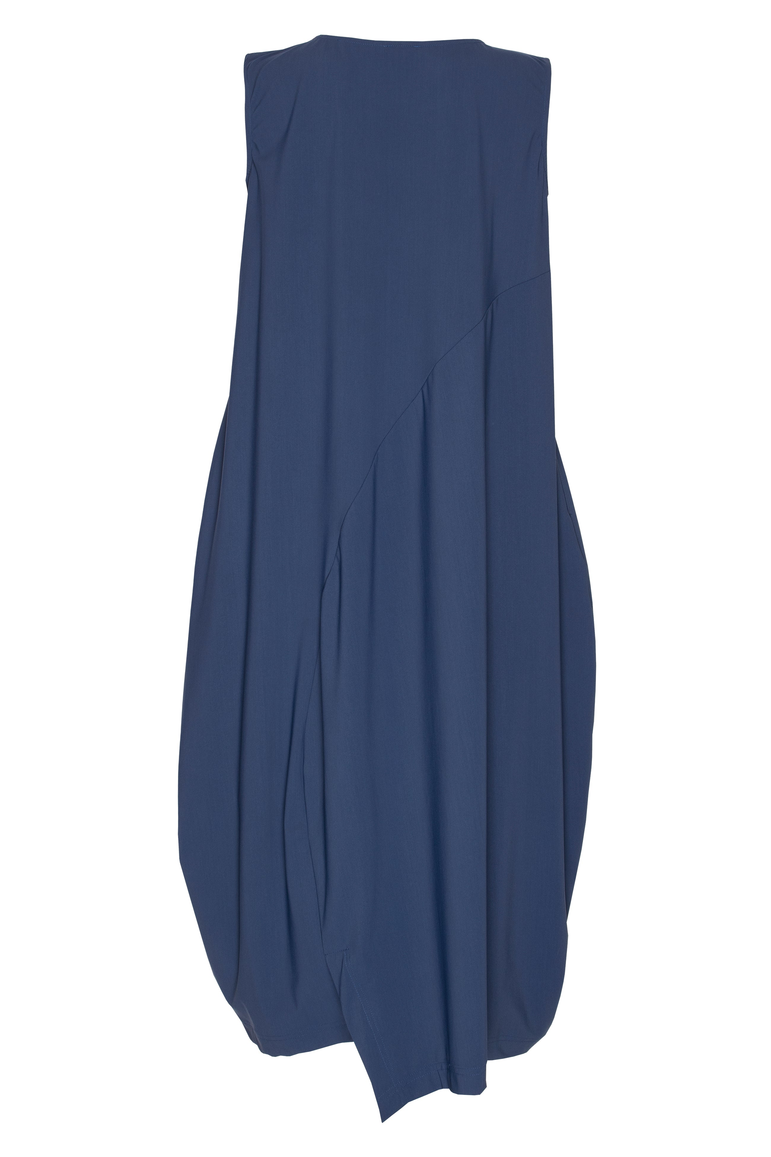 Indigo Jersey Asymmetric Panel Singlet Dress 5265
