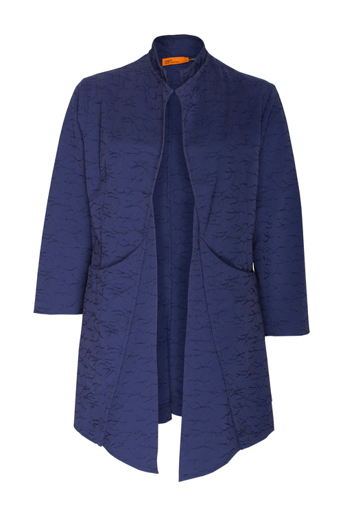 Indigo Embroidered Double Front Duster 7237