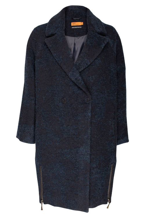 Midnight Side Zips Cocoon Coat 7213
