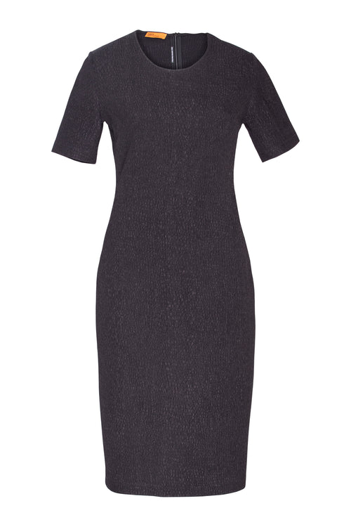 Midnight Short Sleeve Midi Dress 4216