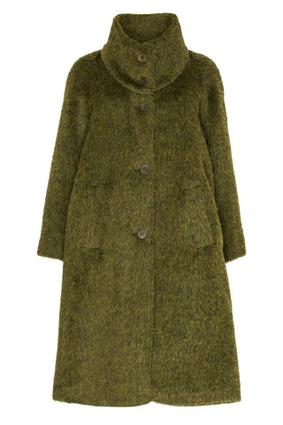 Olive Hip Pocket Coat 5273