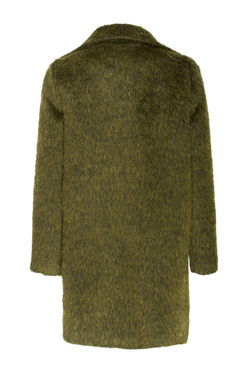 Olive Hook Front Car Coat 7215