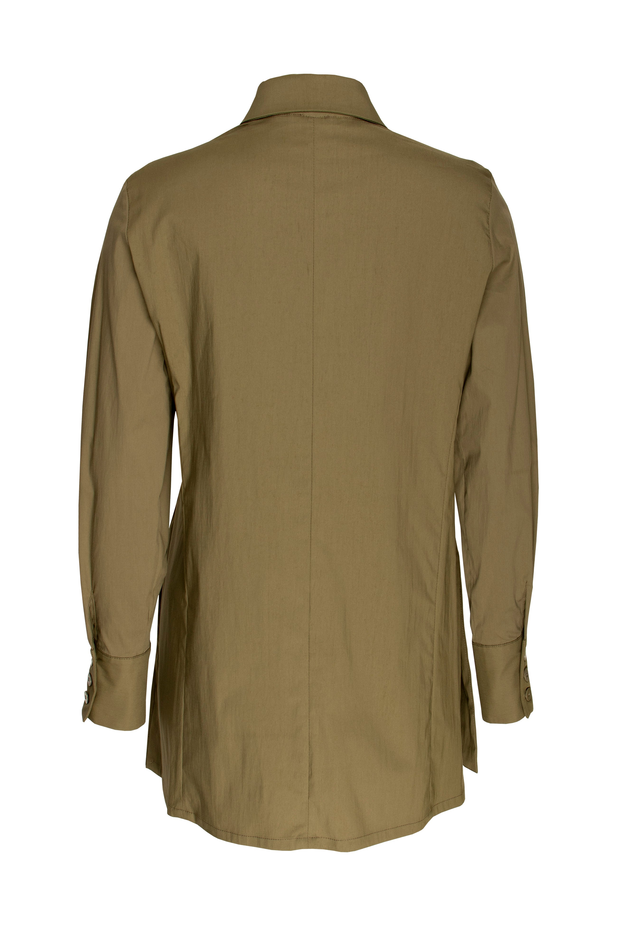 Olive 4 Button Shirt 9219