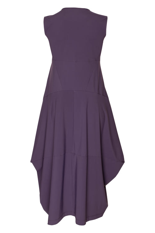 Plum Jersey Multipanel Dress 5243