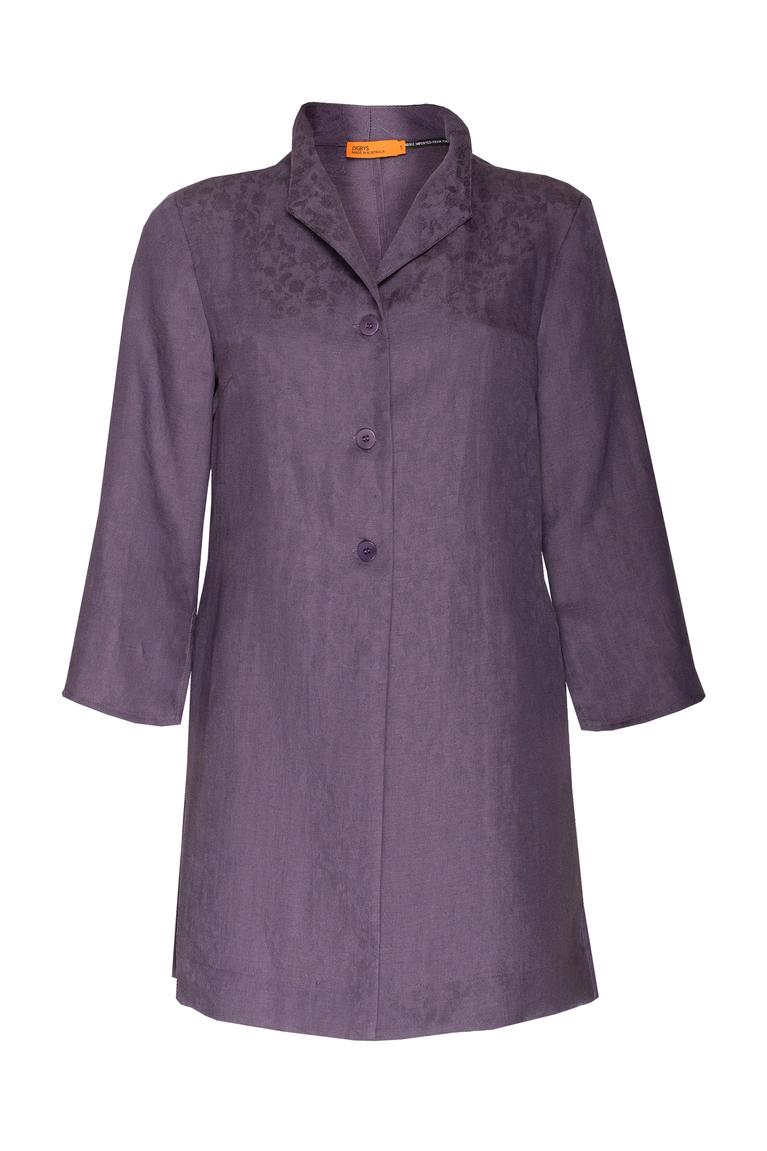 Purple 3/4 Sleeve Long Shirt  8231