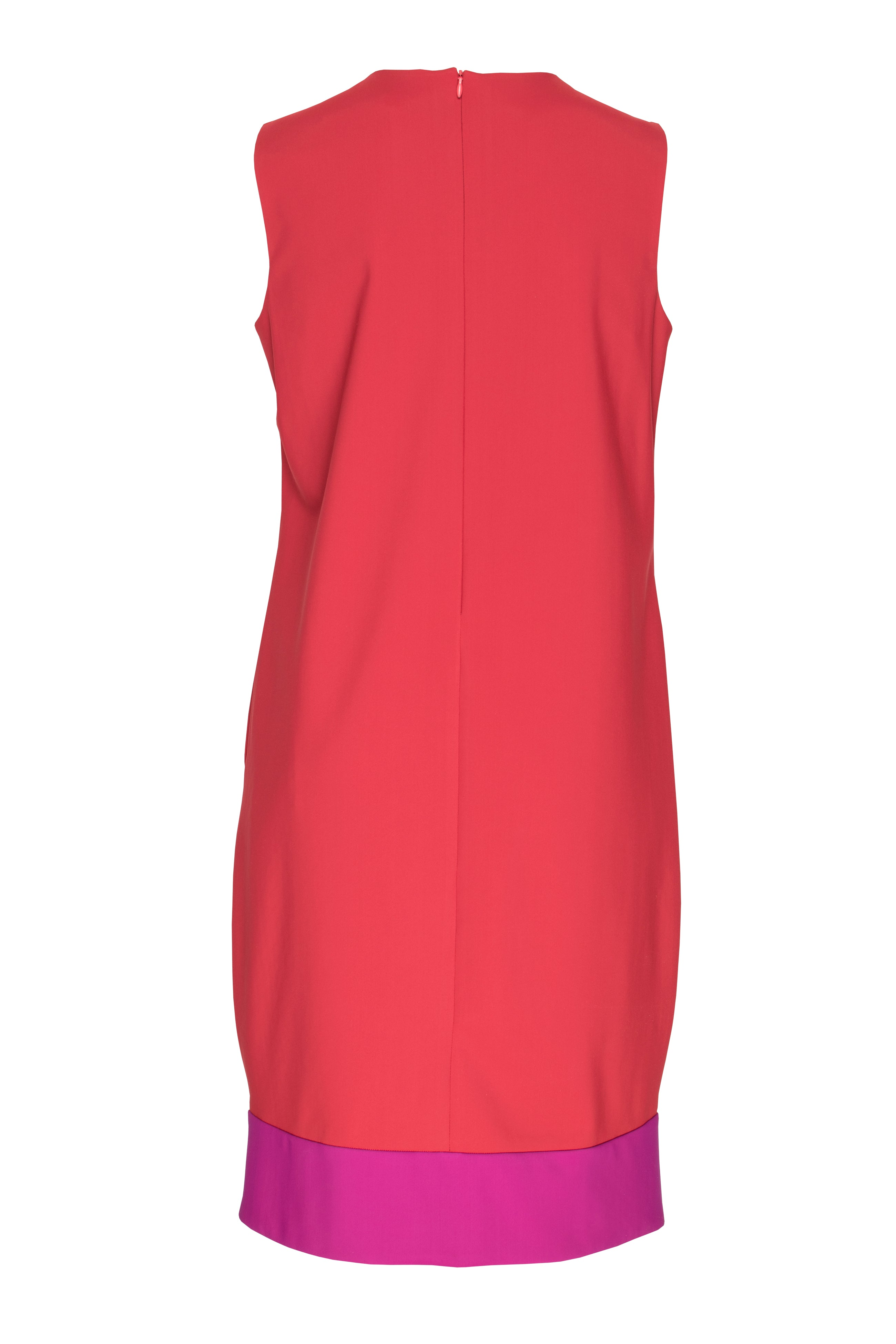 Red/Cerise Narrow Panel Hem Shift 3228