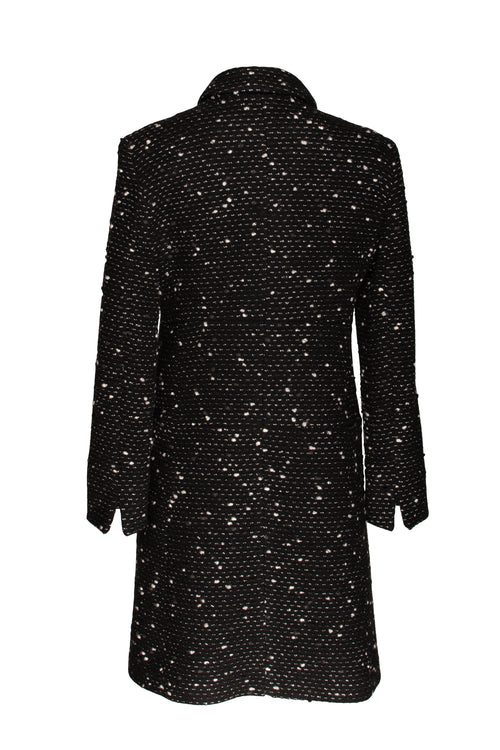 Black Spot Waist Seam Coat 9237