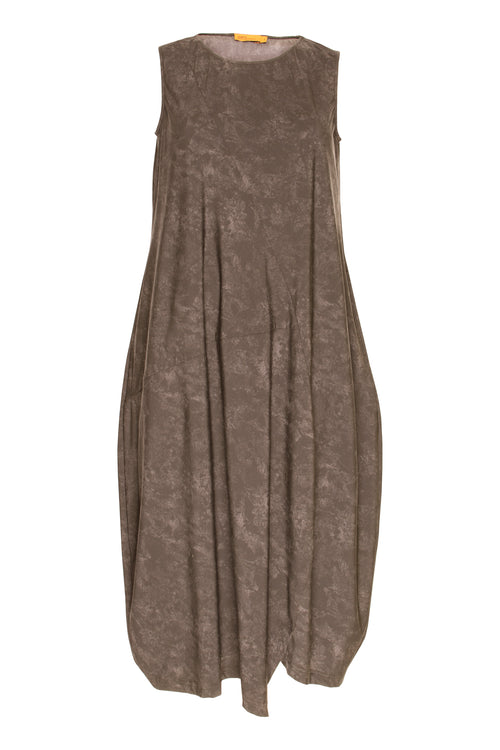 Taupe Asymmetric Panel Singlet Dress 5201