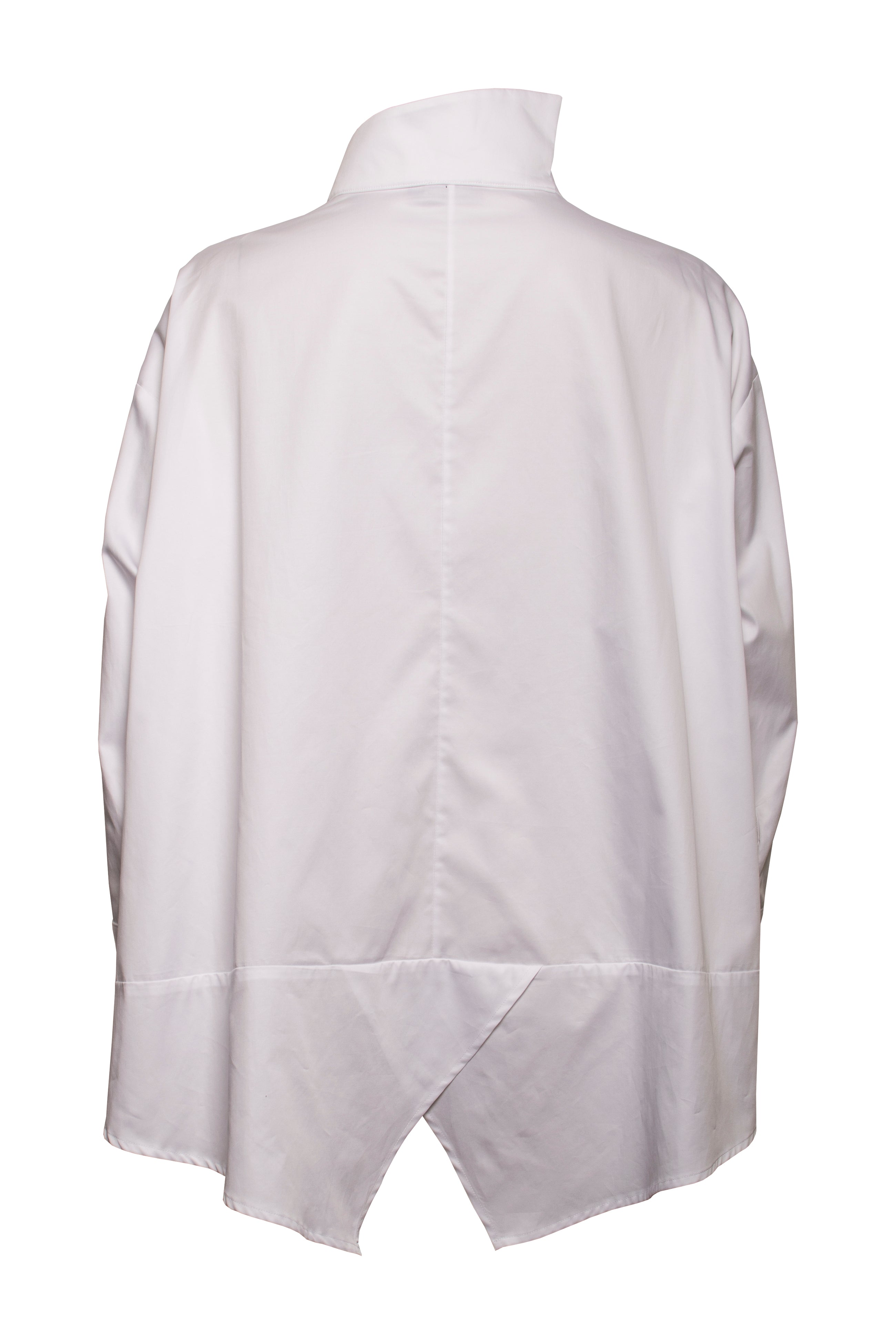 White Cotton Front Pockets Swing Shirt 6210 RE CUT COMING SOON
