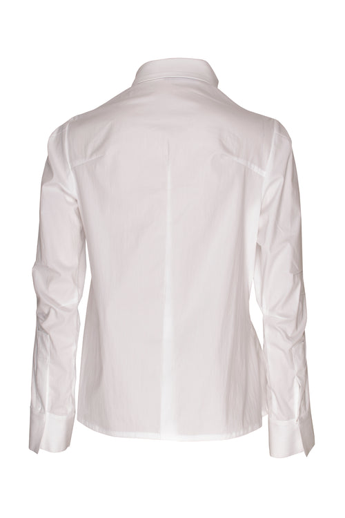 White Cotton Extra Darts Shirt 8202