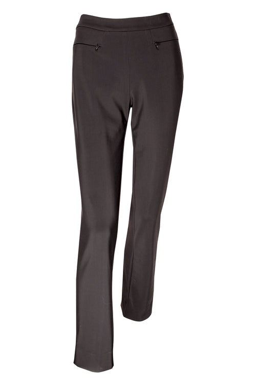 Black Bonded Jersey Zip Pocket Narrow Pant 6245