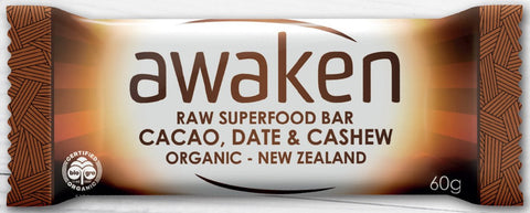 Awaken Cacao, Date and Cashew Raw Superfood Bar