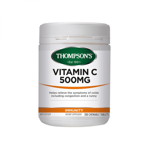 Immunity - Vitamin C 500mg Chewable, Healthy Immune System | Natural Zealand