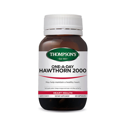buy One-A-Day Hawthorn 2000mg 60C online at Natural Zealand by Integria NZ , Heart Health