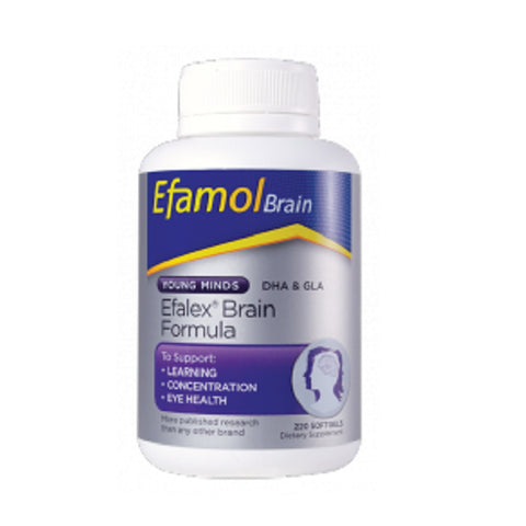 Kids Health - Efamol Efalex Softgels, Learning, Concentration, DHA fish oil | NZ | Natural Zealand