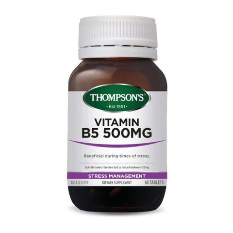 Stress - Vitamin B5 500Mg 60T At Natural Zealand