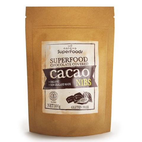 Superfood - Chocolate Covered Cacao Nibs Certified Organic