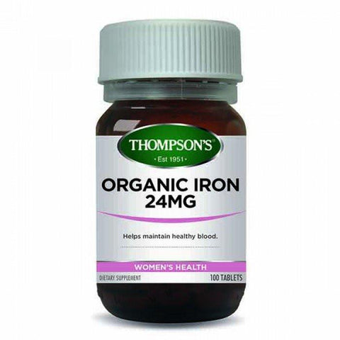 Women's Health - Organic Iron 24Mg 100T At Natural Zealand