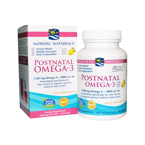 Women's Health - Postnatal Omega-3 SoftGels 60 - Lemon