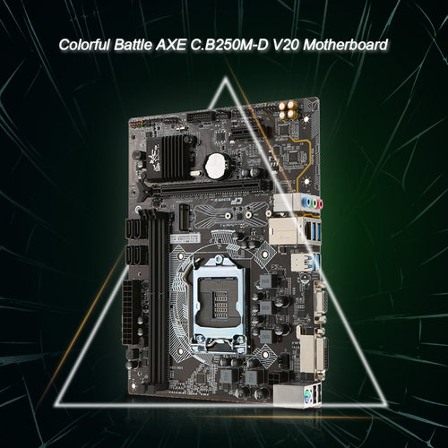 Battle AXE V20 Motherboard Intel B250/LGA1151 DDR4 SATA3 USB3.0 M.2