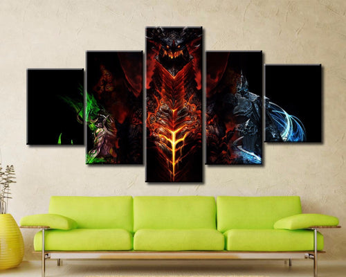 Cataclysm 5 Piece Wall Art