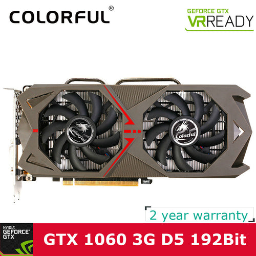 Gaming Central NVIDIA GeForce GTX 1060 GPU 3GB GDDR5 192bit PCI-E X16 3.0 VR Ready Gaming Video cards Graphics Card 1708MHz for CS GO