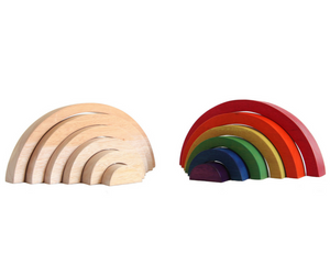 Wooden Rainbow Stacker (Natural)