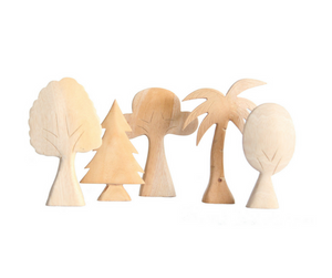 Wooden Trees Set