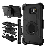 Phone Accessories-Military Belt Clip Stand Case For Samsung