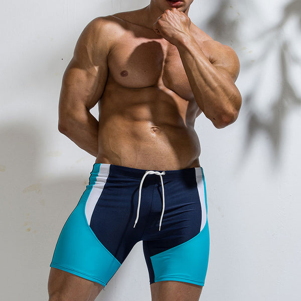 Color Matching Lace Waterproof Men's Swimming Pants