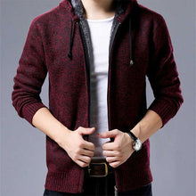 Load image into Gallery viewer, Knit Cardigan Fashion Casual Hooded Sweater Jacket
