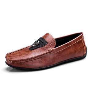 Gradient Round Head Comfortable Anti-skid Men's Loafers