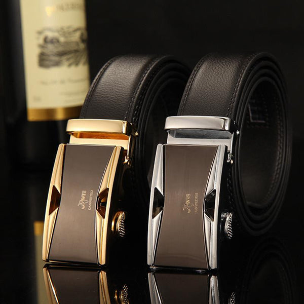 Men Automatic Buckle Leather Belts