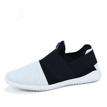 Load image into Gallery viewer, Shoes- Breathable Comfortable Rubber Men Slip-on Casual Shoes