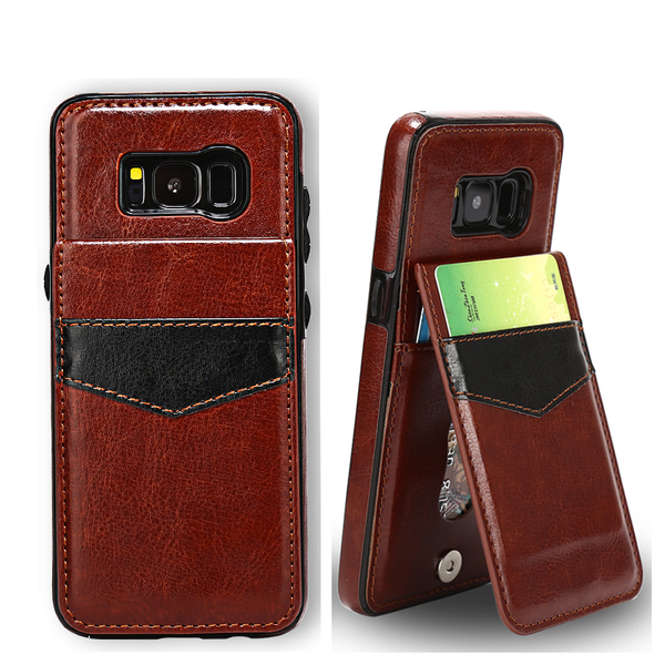 Luxury Retro Flip Leather Case For Samsung Galaxy