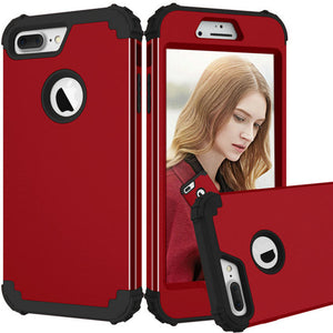 New Fashion Shockproof Anti-Knock PC+TPU 3-Layers Hybrid Full-Body Phone Cases for iPhone