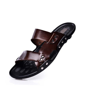 Men Leather Casual Beach Shoes