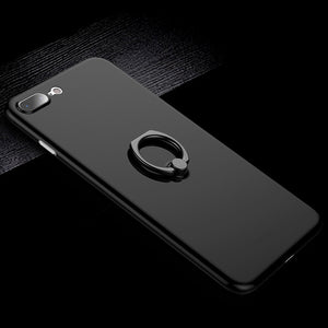Kickstand Case Slim Matte PC Cover Ring Holder Case for iPhone