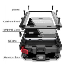 Load image into Gallery viewer, Luxury Doom Armor Dirt Shock Waterproof Metal Aluminum Phone Case