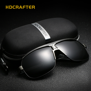 Sunglasses-Fashion Men's Mental Retro Polarized Sunglasses