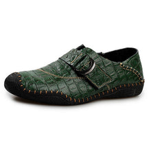 Load image into Gallery viewer, New Crocodile Pattern Leather  Men Moccasins