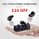 Mini Twins Stereo Bluetooth Earphones With Charge Box 6 Colors