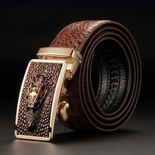 Luxury Crocodile Automatic Buckle Belts For Men
