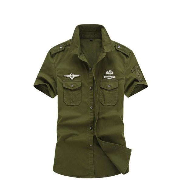 T-Shirt - Casual Men's Military Cotton Shirts