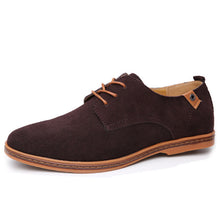Load image into Gallery viewer, Nubuck Lace Up Oxford Casual Shoes