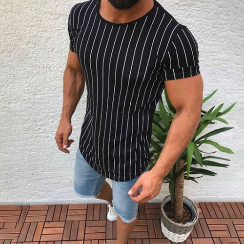 Sports Collar Leisure Round Neck Men's T-shirt