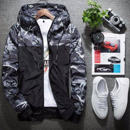 Fashion Hooded Camouflage Men Jackets