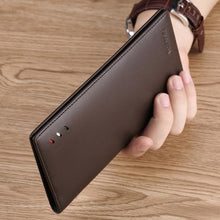 Load image into Gallery viewer, Luxury Men's Long Bifold Leather Wallet